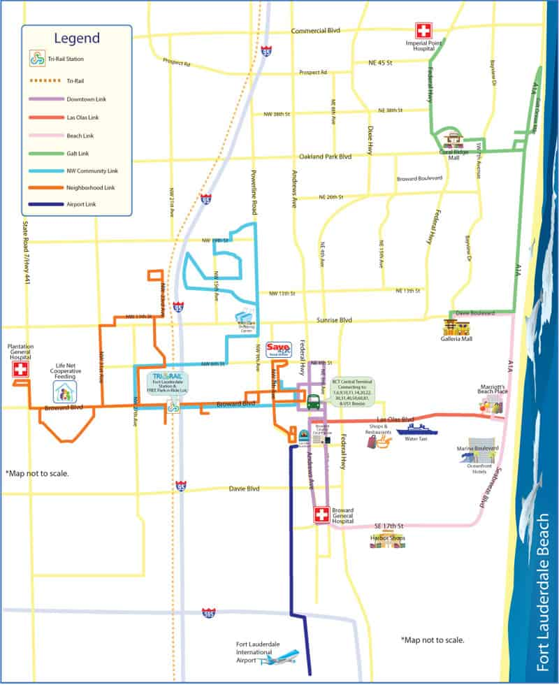 Fort Lauderdale Sun Trolley Routes
